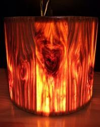 Small Drum Wooden Hanging Lamp