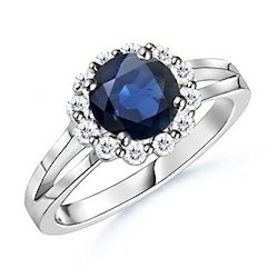 Blue Diamond Real Natural 1.00Ct Exclusive Wedding Ring