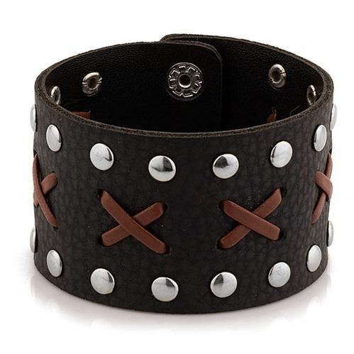Men Wristband Leather Bracelet