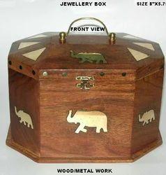 Sheshamwood Brown Jewellery Box