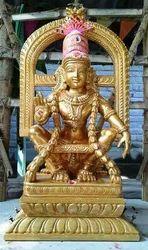 Lord Ayyappa In Wood