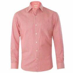 AR Cotton Men''s Striped Formal Shirt