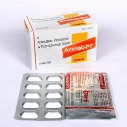 Aceclofenac Paracetamol & Thicolchicoside Tablets