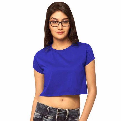 49f15f5f4013f8 Ladies Blue Crop Top at Rs 150  piece
