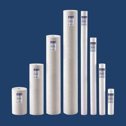 White Industrial Spun Filter Cartridge, Length: 40 & 50 Inches
