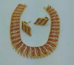 Jadau Stone Necklace Set