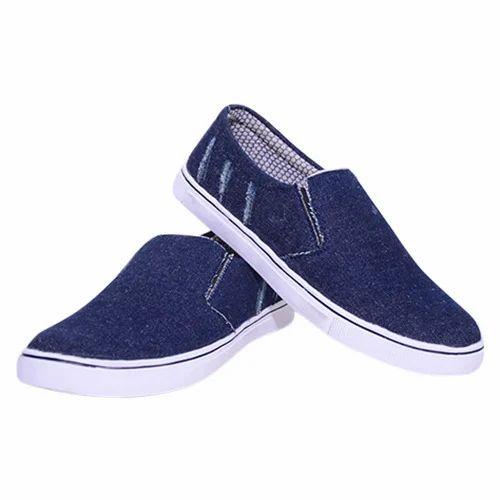 Canvas Denim Loafer Shoes, Size: 6 X 10