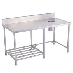 Solid Dish Landing Table with Chute