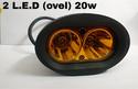 Fog Light 2 Led Ovel 20 Watt