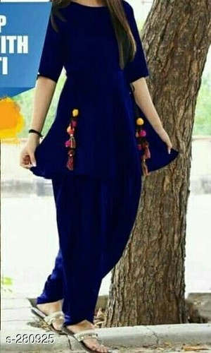 61af462ff0 Rajasthani Style Kurti With Dhoti at Rs 680 /piece | Girls ethnic ...