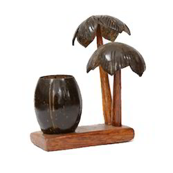 Coconut Shell Tree Style Pen Holder