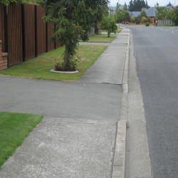 Gray Concrete Footpath Curbing, For Landscaping