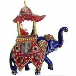 Stone Studded Elephant Ambawadi Savari MT043
