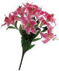 Artificial Lily Flower Bouquet (9 Flowers)