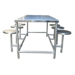 Stainless Steel Canteen Table - Stainless Steel 6 Seater