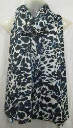 Animal Print Poly Voile Scarfs