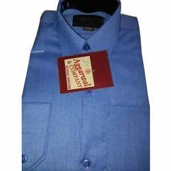 Cotton Blue School Uniform Shirt