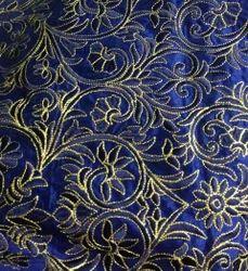 Dupion Zari Embroidered Fabrics