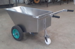 Waste Vegetable Fruit Carrying SS Trolley