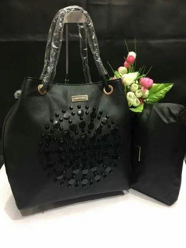 Jimmychor Black Hand Bag with Pouch   Michael Kors Ladies Fashion ... f690d11a37265