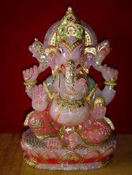 Rose Quartz Ganesha Statue