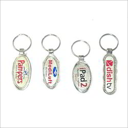 Silver Laminated Keychain