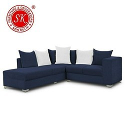 Blue L Shape Sofa Set