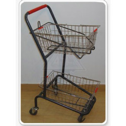 two basket shopping trolley