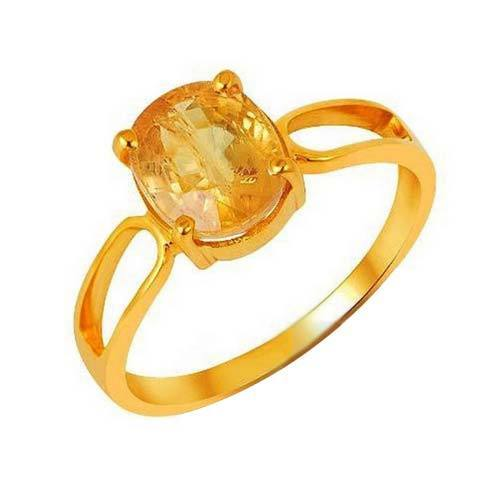 Yellow Sapphire Gold Ring View Specifications & Details of