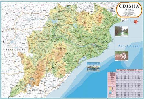 Odisha map at rs 110 piece daryaganj new delhi id 7603649230 odisha map gumiabroncs Image collections