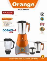 Orange Mixer Grinder Cosmo 4Jar 1HP, 501 W - 750 W