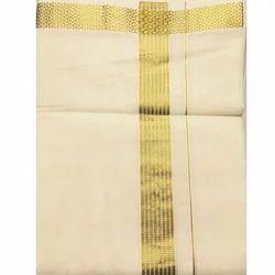 Warrior Dothis and Angavasthra Cotton and Art Silk Dhoti