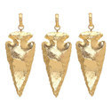 Gold Dipped Arrowhead Pendant