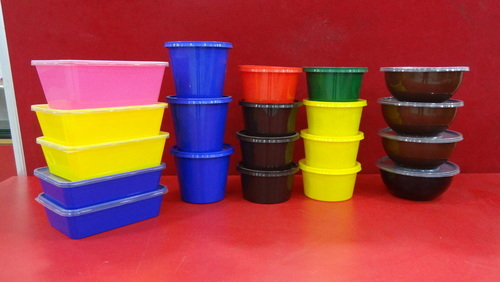 PP Multicolour Plastic Container, Weight: 105 g