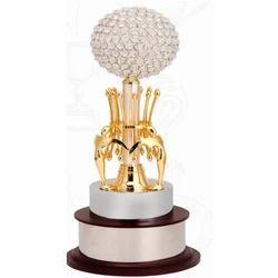 Brass Crystal Trophy