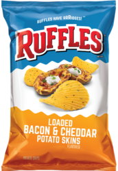 Bacon & Cheddar Flavored Potato Chips