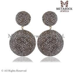 Pave Diamond Earring