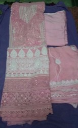 Chiffon Embroidered Krachi Work Dresses