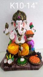 Ganesh Multicolor Statue
