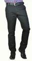 Black Flat Front Pleatless Cotton Pants Ss6081