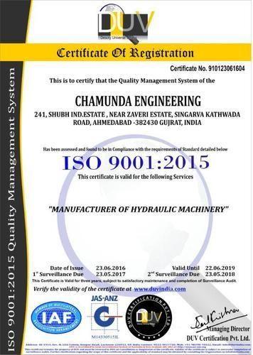 Chamunda Engineering - Manufacturer from Kathwada, India | Profile