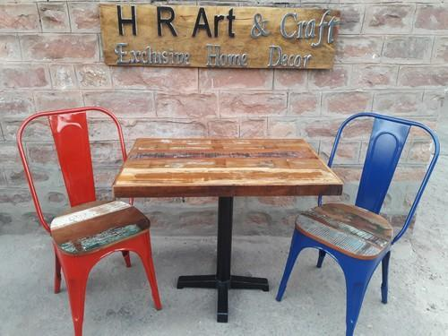 Cafe Metal and Wood Chair