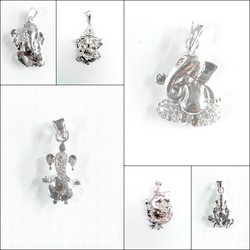 925 Silver Ganpati Bapa Pendants