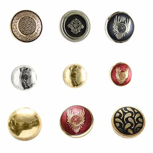 Designer Metal Coat Button