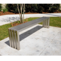Brushed Stainless Steel Bench