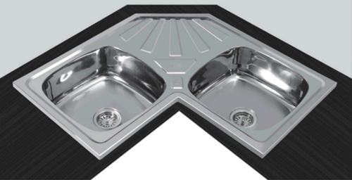 Double Bowl Kitchen Sink With Drainboard Wow Blog