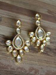 Dangle Antique Gold Diamond Earrings