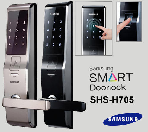 Samsung Digital Door Lock Shs H705 Password Fingerprint At