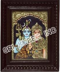 Sivan Parvati Tanjore Paintings