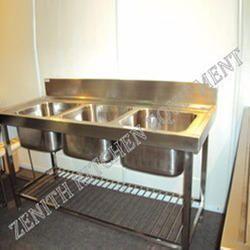3 Sink Dish Wash Unit